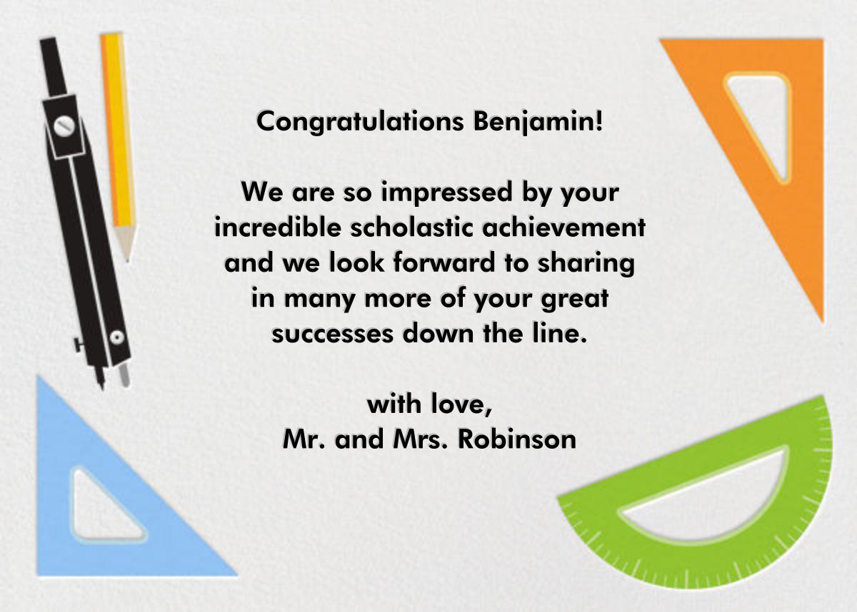 Geometry Set - Graduation Congratulations - Paperless Post - Congratulations - card back