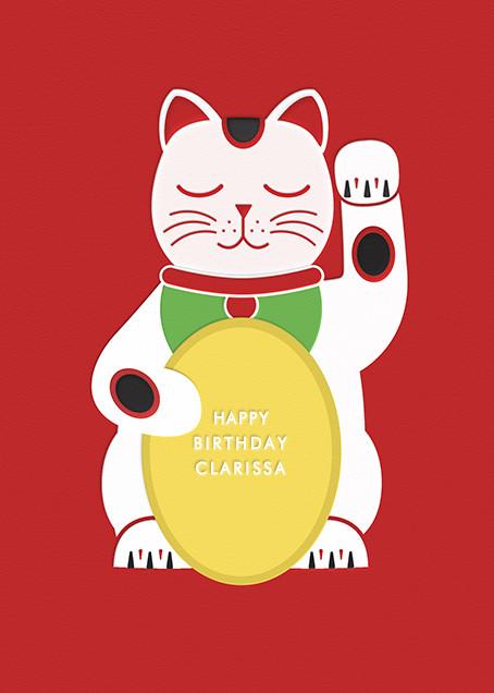 Lucky Cat - Birthday - Paperless Post - Birthday