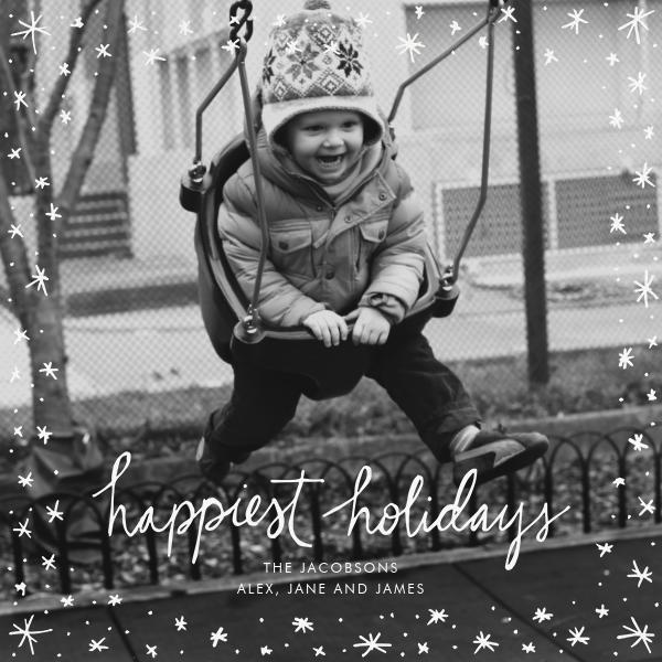 Holiday Wink (Square) - White - Linda and Harriett - Linda & Harriett holiday