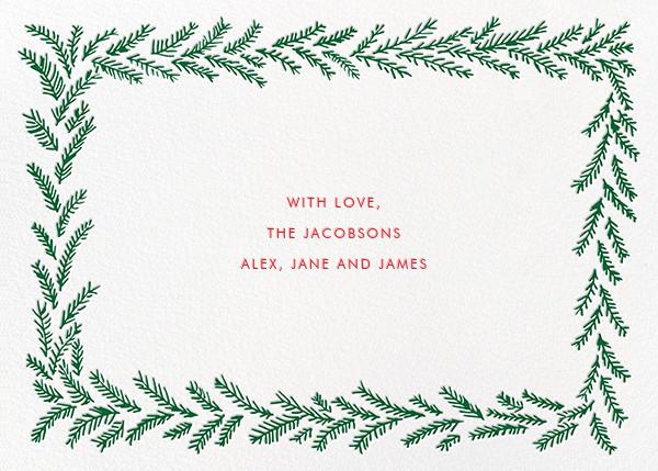 Merry Christmas Wreath (Horizontal) - White - Linda and Harriett - Christmas - card back