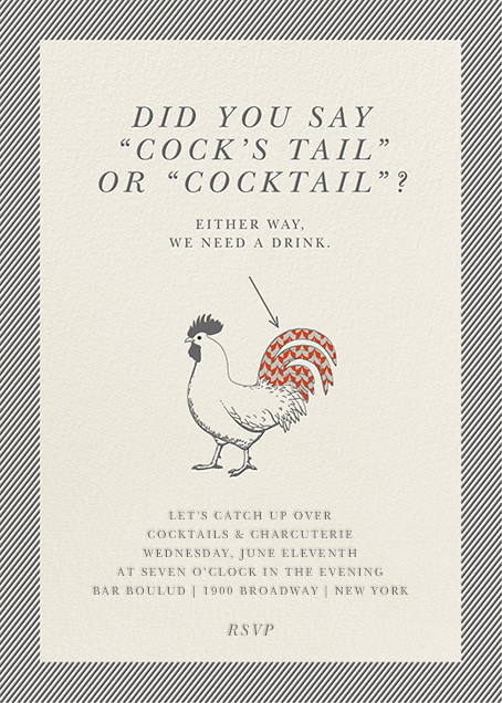 Cock's Tail and Cocktails - Derek Blasberg - Cocktail party