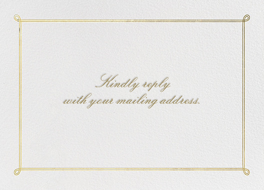 Classic Loop - Gold - Paperless Post - Address collection cards