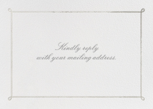 Classic Loop - Silver - Paperless Post - Address collection cards