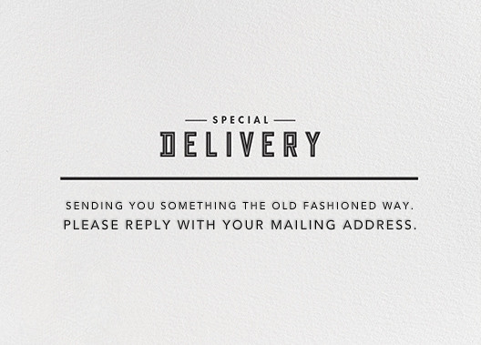 Modern Delivery - Paperless Post