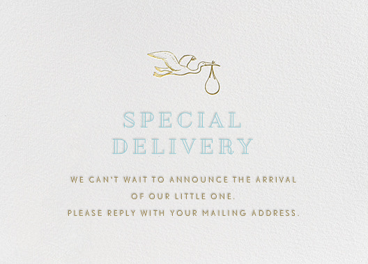 Special Delivery Crane - Blue - Paperless Post - Address collection cards