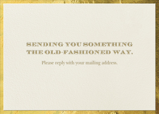 The Classic - Gold - Paperless Post - Address collection cards