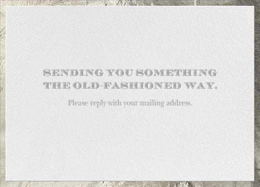 The Classic - Silver - Paperless Post - Address collection cards