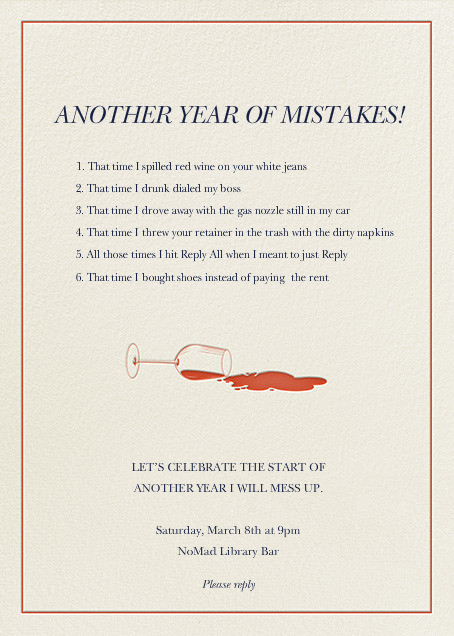 New Year, New Mistakes - Derek Blasberg - null