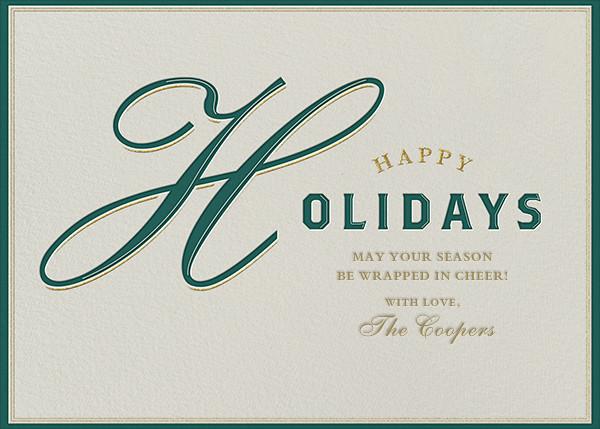 Varsity Holiday - Green - Paperless Post - null - card back