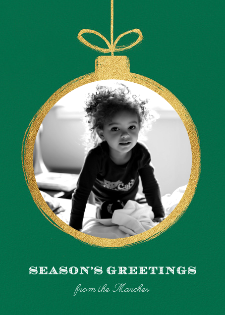 Gold Ornament - Paperless Post - Christmas