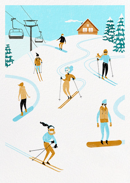 Chalet Ballet - Paperless Post - Holiday cards