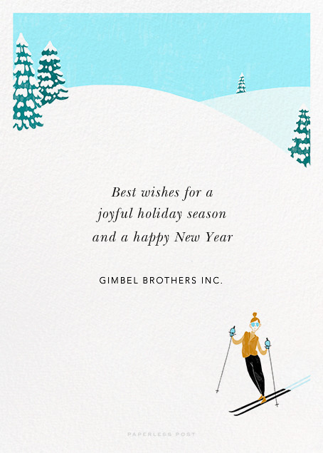Chalet Ballet - Paperless Post - Holiday cards - card back