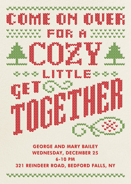 Cozy Get Together - Crate & Barrel - Christmas party