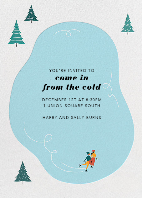 Frosty Pond - Paperless Post - Winter parties