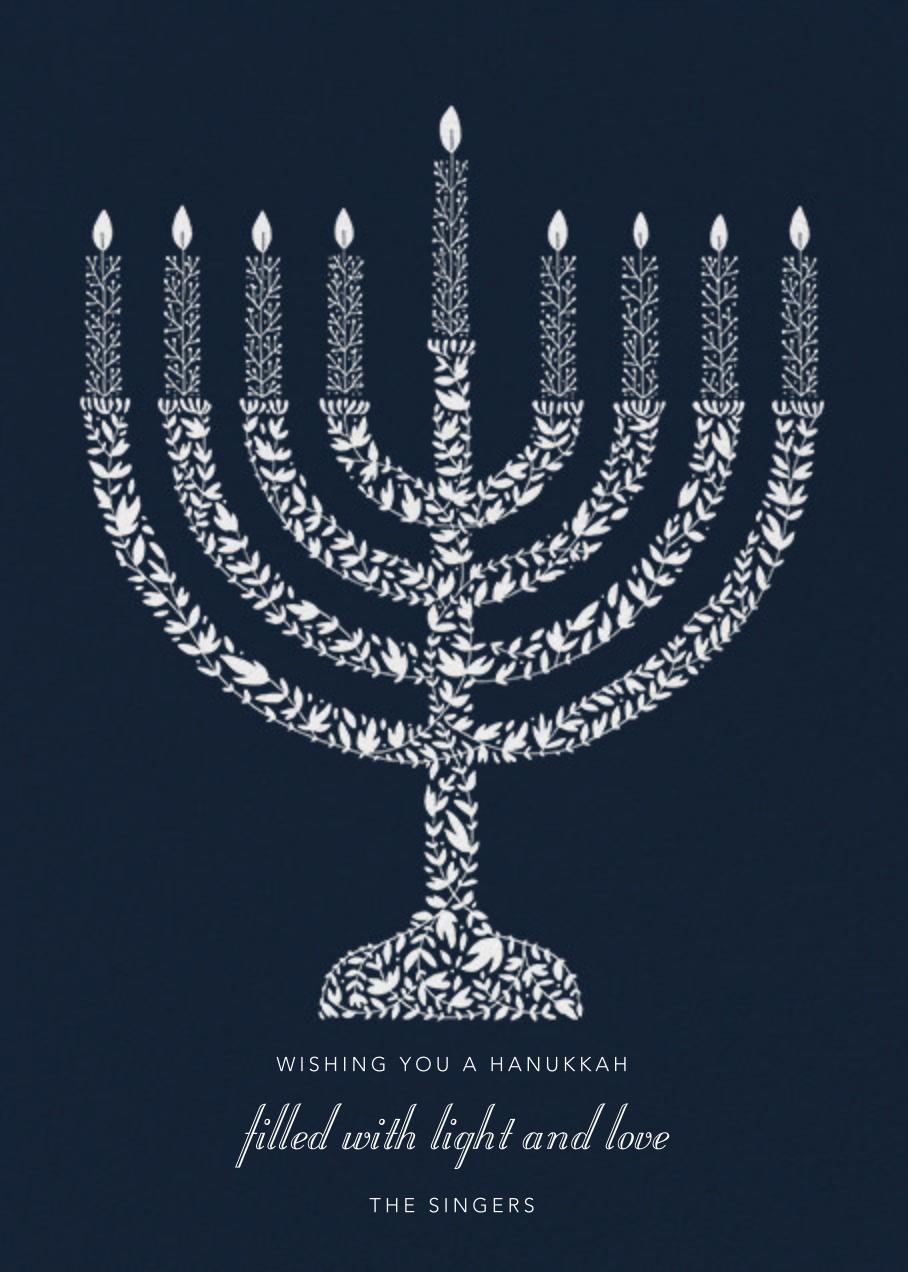 Vine Menorah - Paperless Post - Hanukkah