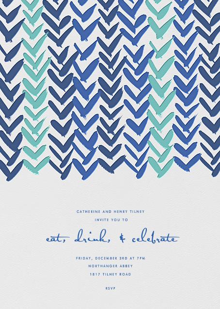 Ink Brush Arrows - Blue - Linda and Harriett - General entertaining