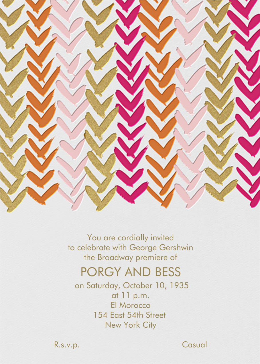 Ink Brush Arrows - Pink And Gold - Linda and Harriett - Baby shower