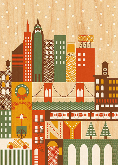 Snowy New York - Petit Collage