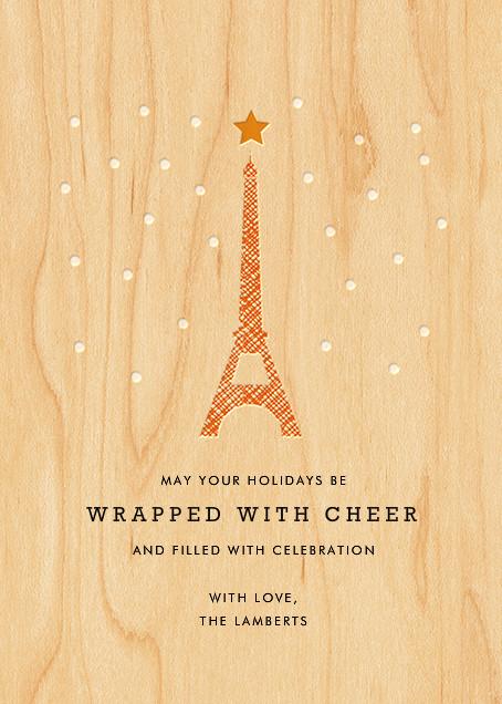 Snowy Paris - Petit Collage - null - card back
