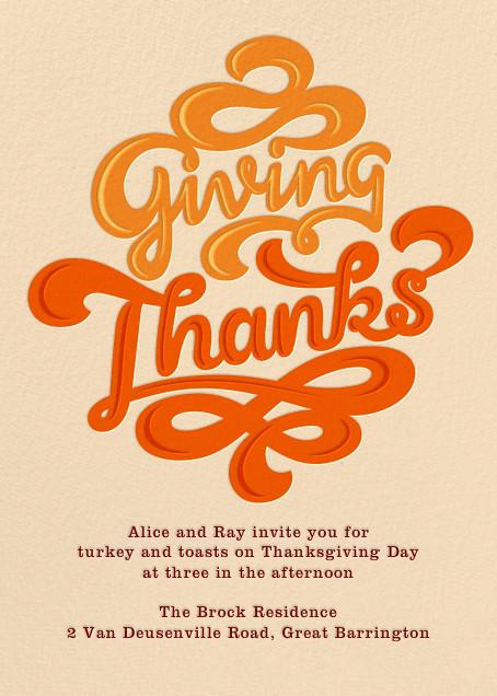 Giving Thanks Gravy - Paperless Post - Thanksgiving