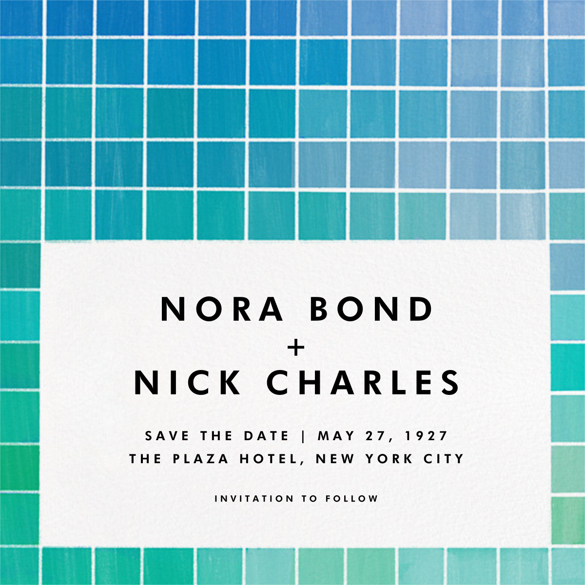 Chromatic - Blue - Kelly Wearstler - Party save the dates