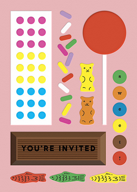 Candy Party - Pink - The Indigo Bunting - Kids' birthday