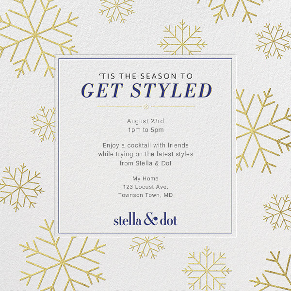 Stella and Dot - Snowflakes - Paperless Post - null