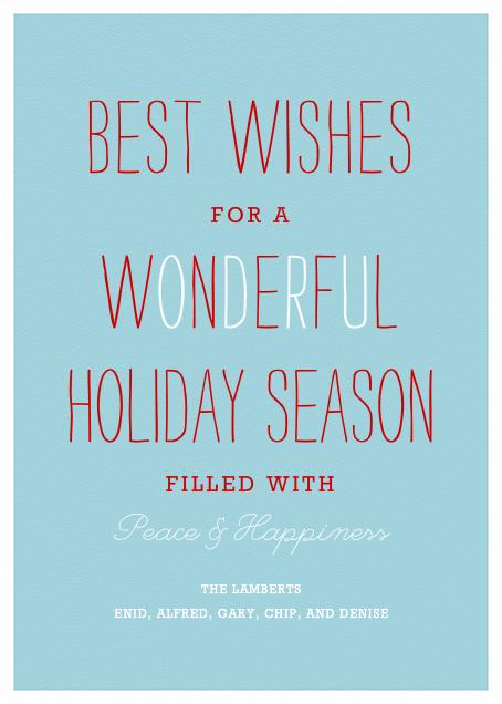 Wonderful Holiday - Paperless Post