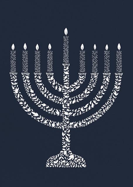 Vine Menorah - Greeting - Paperless Post - Hanukkah
