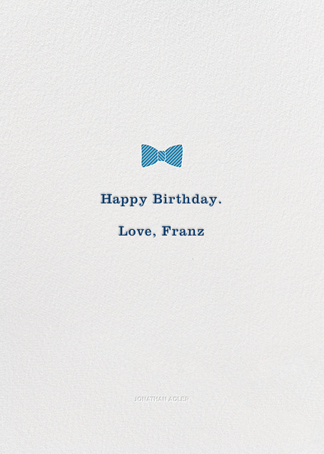 Trappings of a Gent - Jonathan Adler - Birthday - card back