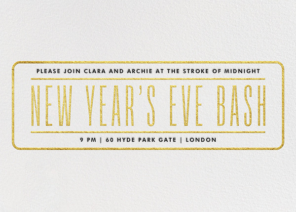 New Year's Eve Bash - Gold - Paperless Post - New Year's Eve