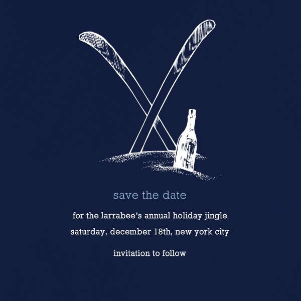 Navy Blue - Square - Paperless Post - Save the date