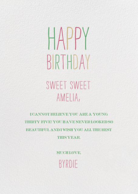 Sweet Seedless Watermelon Day - Mr. Boddington's Studio - Birthday - card back
