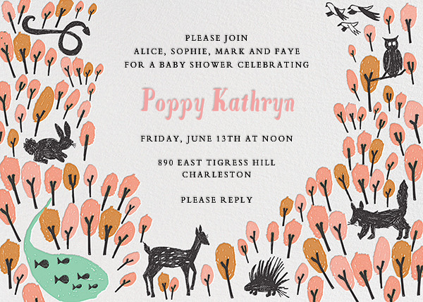 Forest Birthday - Pink - Mr. Boddington's Studio - Baby shower