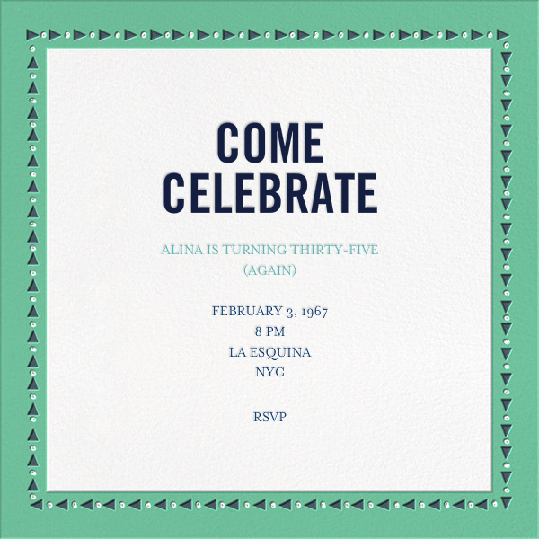 Polaroid Party - Green - Mr. Boddington's Studio - Adult birthday - card back