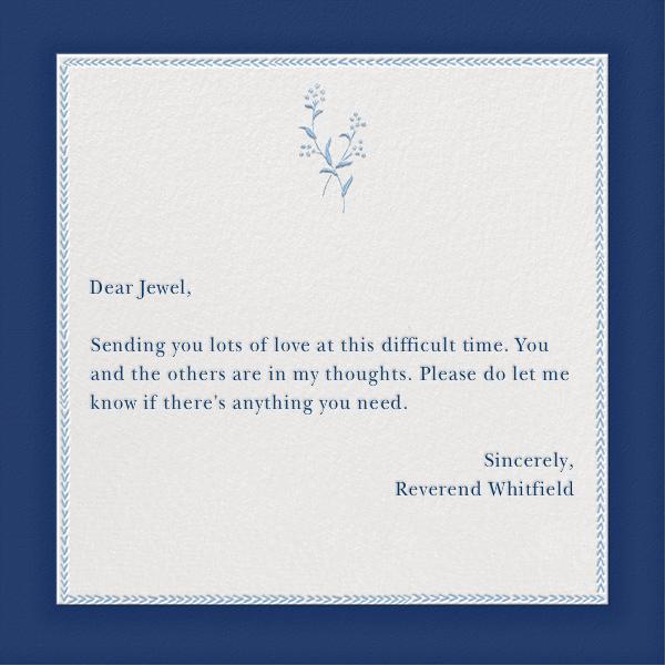 Sevre - Dark Blue and Spring Rain - Paperless Post - Sympathy