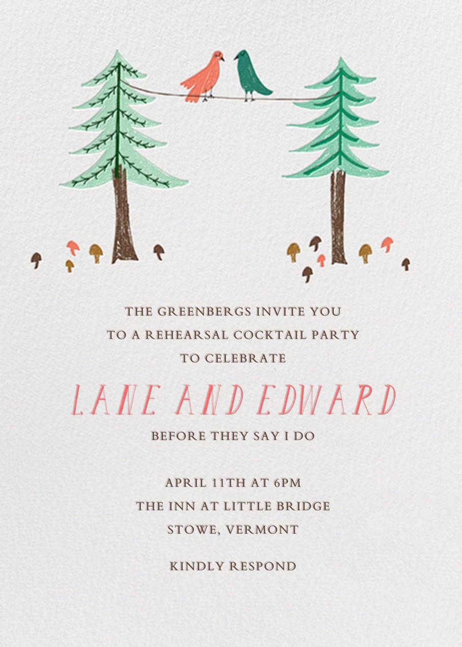 Love Birds On A Wire - Mr. Boddington's Studio - Wedding brunch