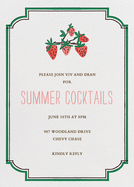 Pint of Strawberries - Mr. Boddington's Studio - Summer entertaining