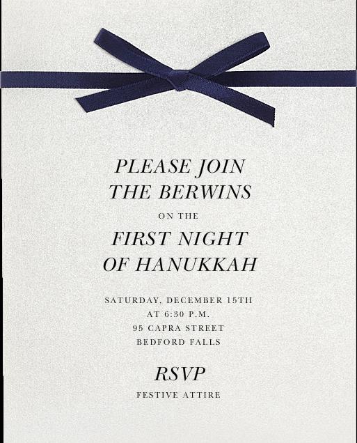 Halston - Paperless Post - Hanukkah