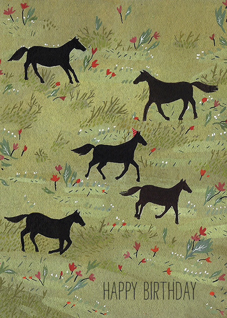 Black Stallion (Becca Stadtlander) - Red Cap Cards - Birthday