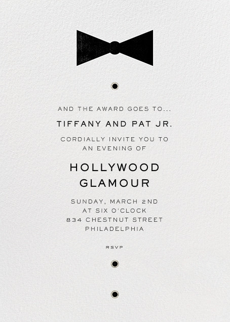 Black Tie Affair - Paperless Post - Viewing party