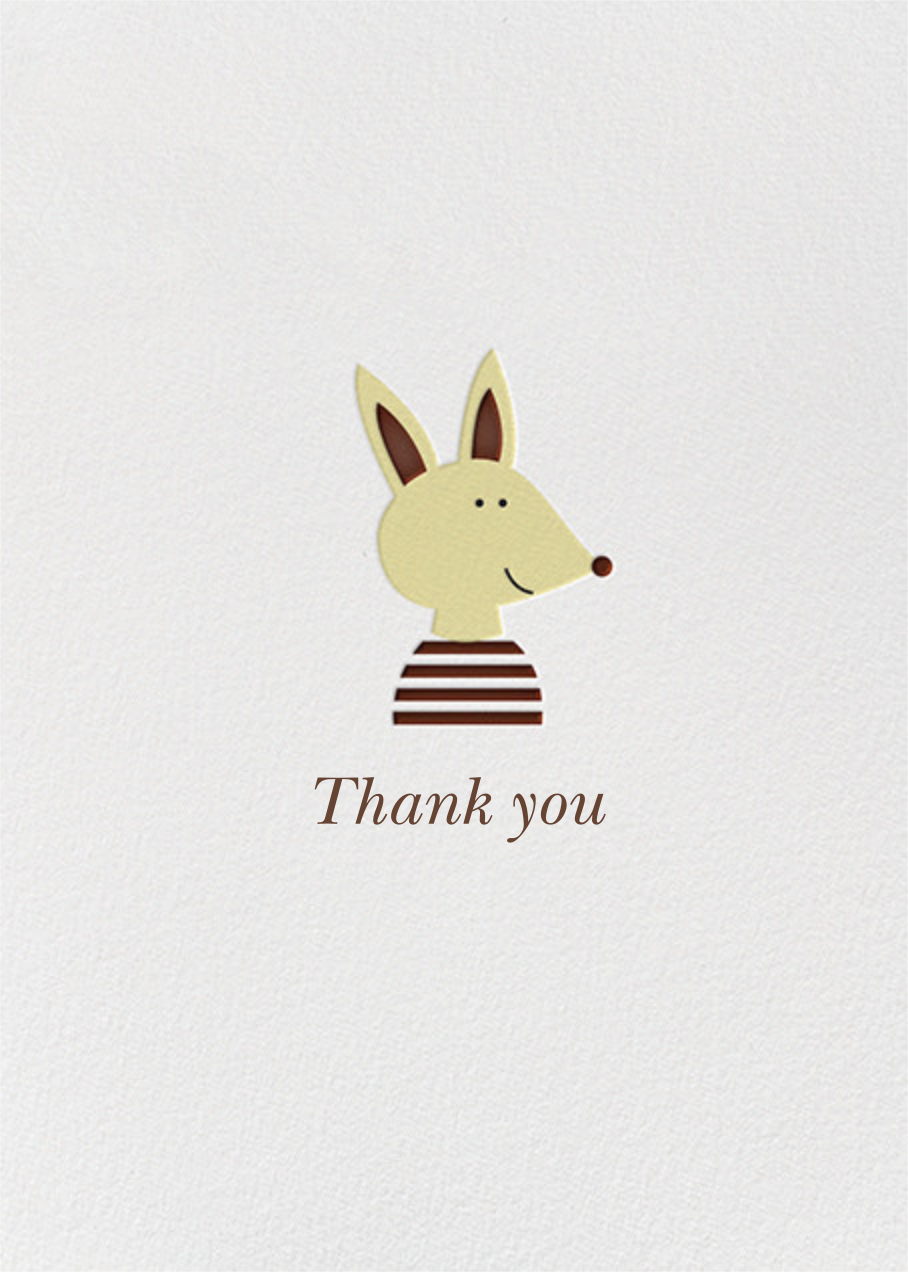 Thank You Pup (Blanca Gomez) - Red Cap Cards - Alicia's Test