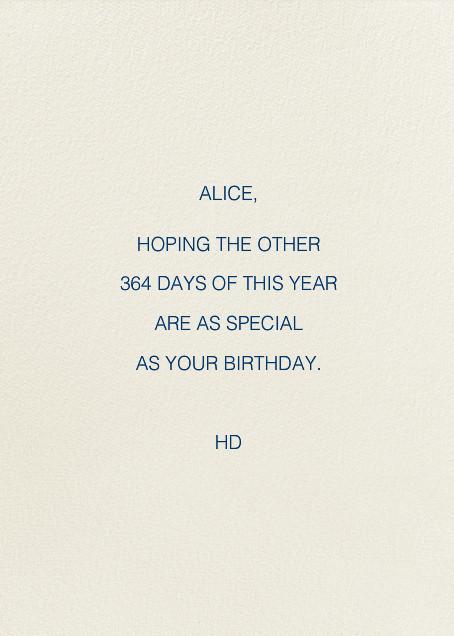 Sweet Cake Birthday (Jill Labieniec) - Red Cap Cards - Birthday - card back