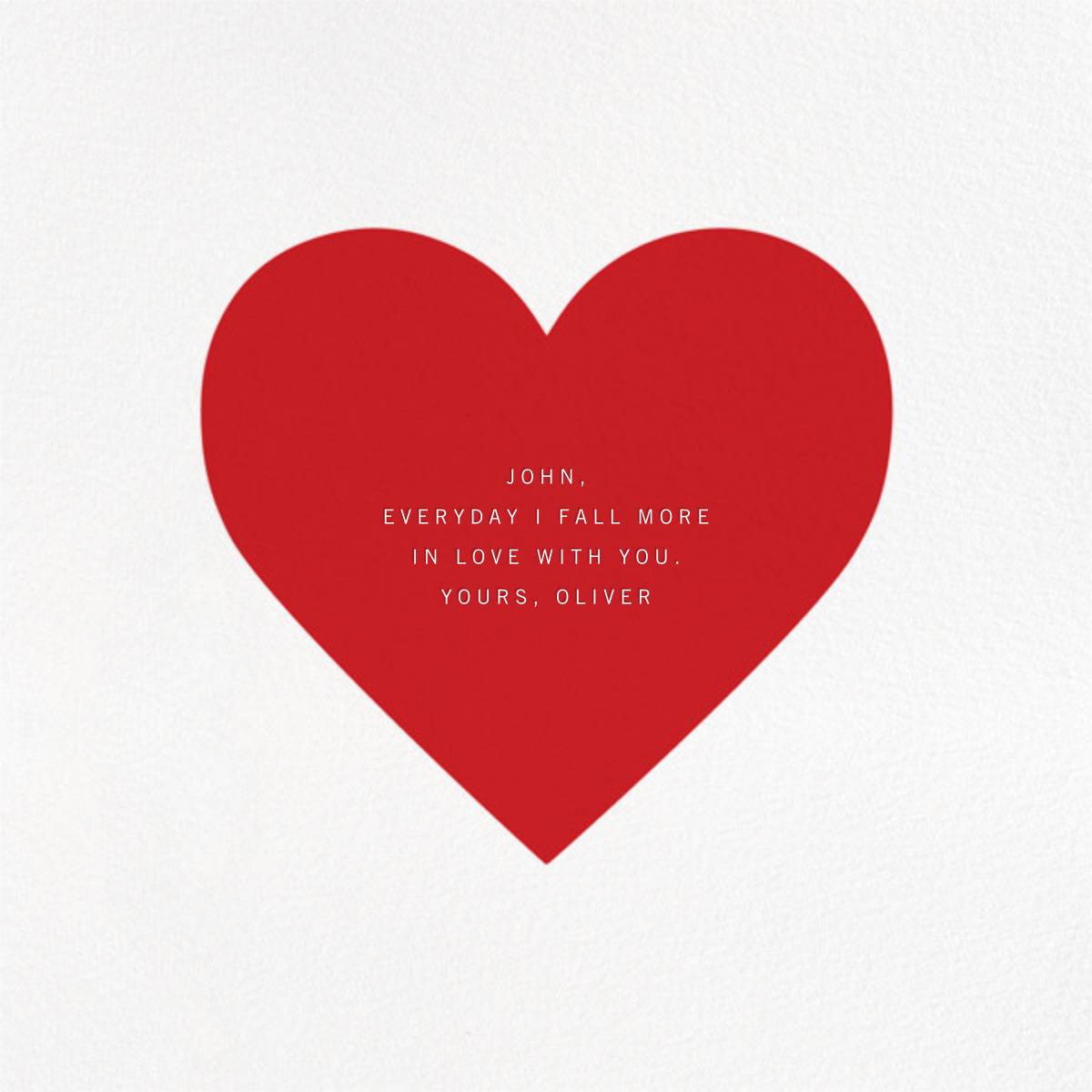 Heartful - Paperless Post - Love and romance - card back