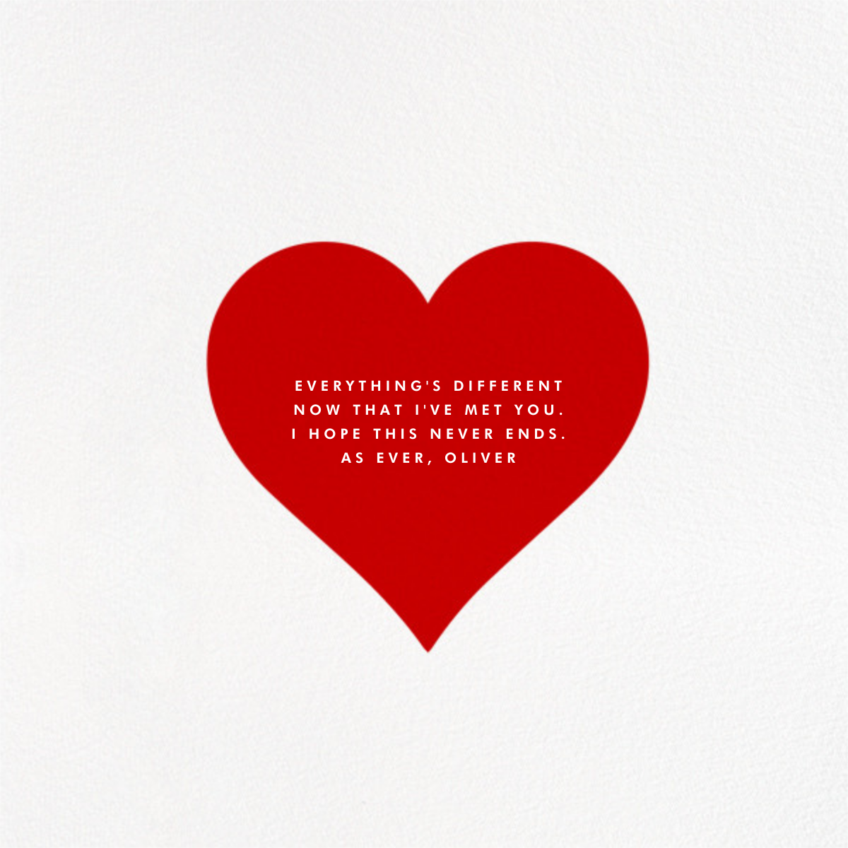 Heart Line (Photo) - White - Paperless Post - Love and romance - card back