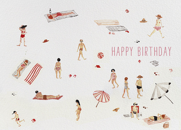 Beach Bums (Sarah Burwash) - Red Cap Cards - Birthday