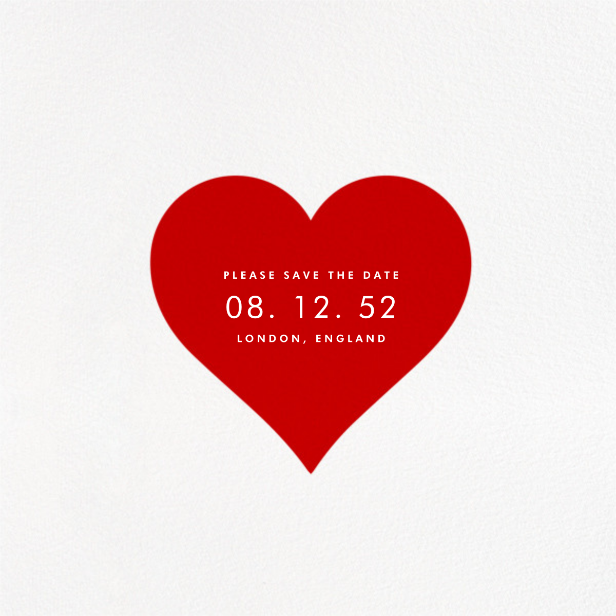 Heart Line (Photo) - White - Paperless Post - Save the date - card back