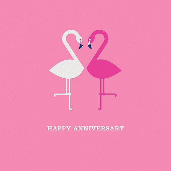 Flamingo Love ll - Jonathan Adler - Anniversary cards