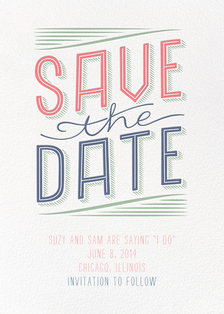Folksy Save the Date - Crate & Barrel - Save the date