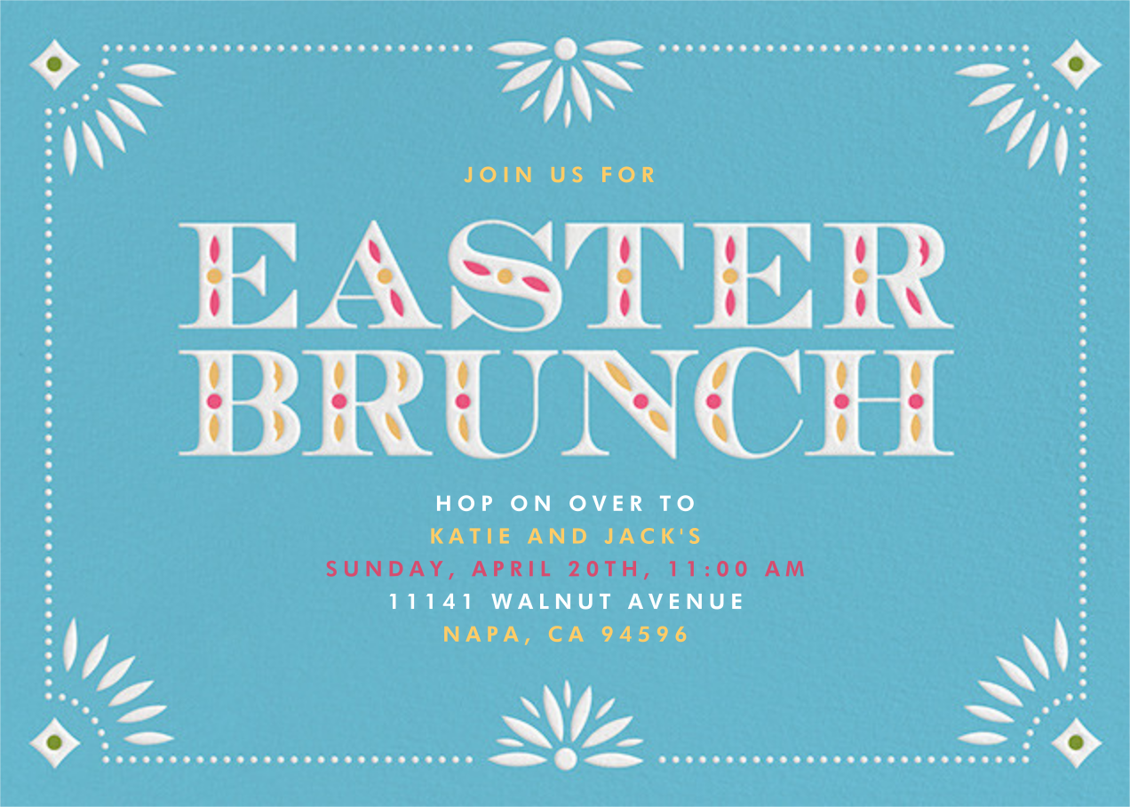 Easter Brunch - Crate & Barrel - Easter